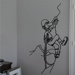 Rock climbing Wall Decal - Vinyl Decal - Car Decal - Bl008
