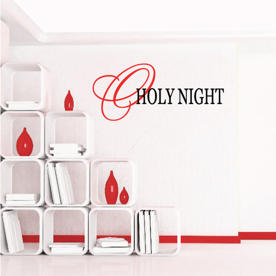 O Holy Night Wall Decal - Vinyl Decal - Car Decal - Vdcolor115