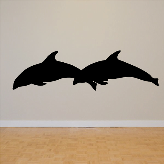 Double Diving Dolphine Decal