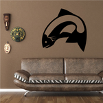Simplified Salmon Decal
