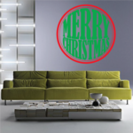 Christmas Ornament Text Decal