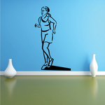 Female Running Fitness Wall Decal - Vinyl Decal - Car Decal - MC048