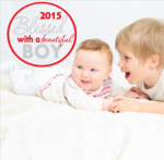Blessed with a Beautiful Boy Year Printed Die Cut Decal