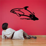 Dolphin Jumping Out of Water Decal