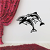 Three Dolphins Jumping Decal