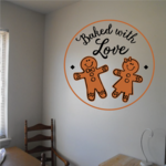 Baked with Love Gingerbreads Decal