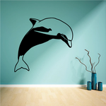 Dolphin Looking Decal