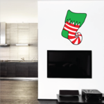 Elf Stocking Decal - Vinyl Decal - Car Decal - Vdcolor015