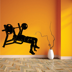 Bench Press Fitness Wall Decal - Vinyl Decal - Car Decal - MC001