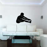 Toe Reach Stretch Fitness Wall Decal - Vinyl Decal - Car Decal - MC021