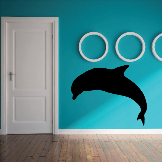 Dolphin High Dive Silhouette Decal