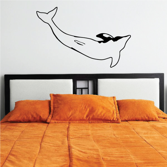 Dolphin Swimming Sideways Decal