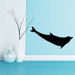 Dolphin Foating Silhouette Decal