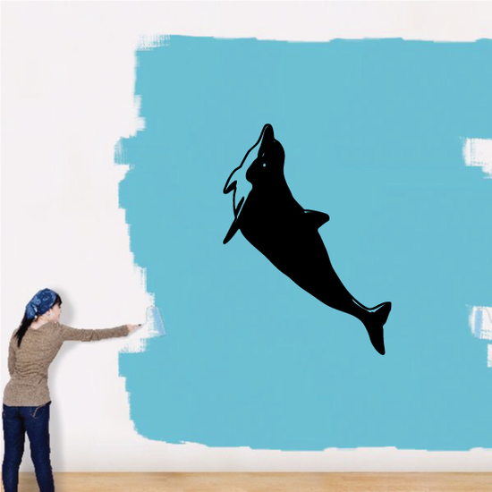 Dolphin Swimming Up Decal