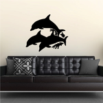 Swimming Dolphins Pod Decal