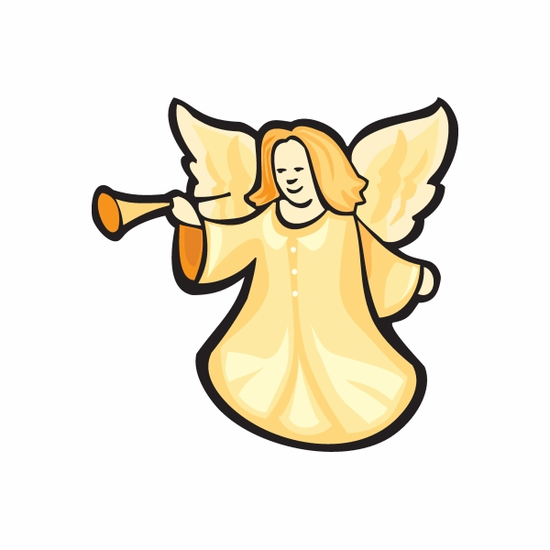 Christmas Decoration Angel with Horn Sticker