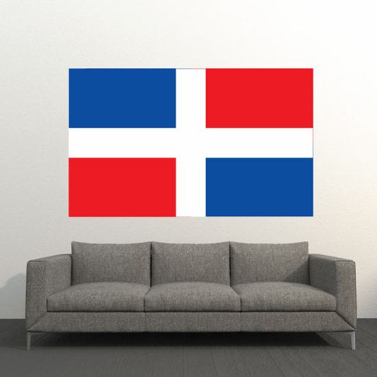Dominican res p Flag Sticker