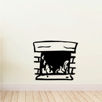 Fire Place Wall Decal - Vinyl Decal - Car Decal - Vd001