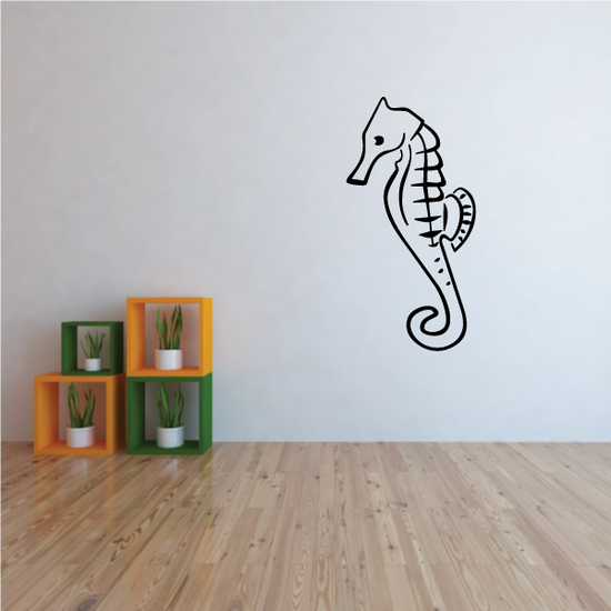 Simple Seahorse Decal