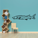 Streaming Sturgeon Fish Decal