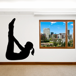 Workout Stretching Wall Decal - Vinyl Decal - Car Decal - AL 008