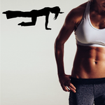 Workout Stretching Wall Decal - Vinyl Decal - Car Decal - AL 010
