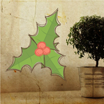 Artistic Mistletoe Printed Decal