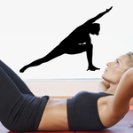 Workout Stretching Wall Decal - Vinyl Decal - Car Decal - AL 011