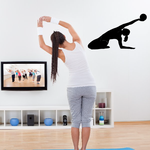 Workout Stretching Wall Decal - Vinyl Decal - Car Decal - AL 012
