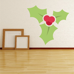 Basic Holly Berries and Leaves Printed Decal