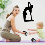 Workout Yoga Wall Decal - Vinyl Decal - Car Decal - AL 01