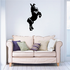 Hind Legs Standing Donkey Decal