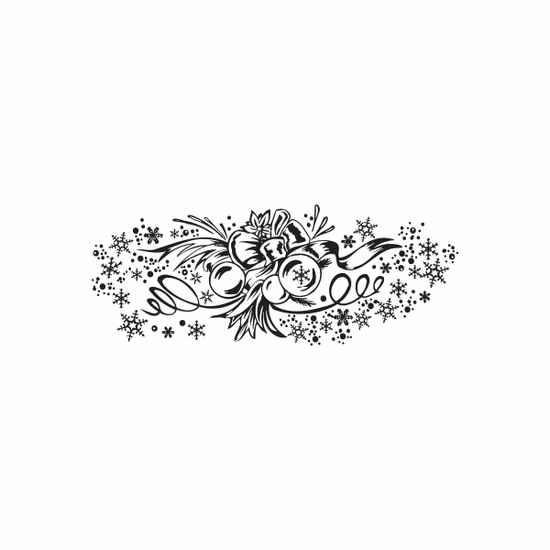 Christmas Decorations Lovely Intricate Decal