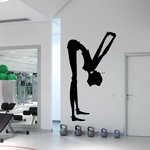Workout Yoga Wall Decal - Vinyl Decal - Car Decal - AL 20