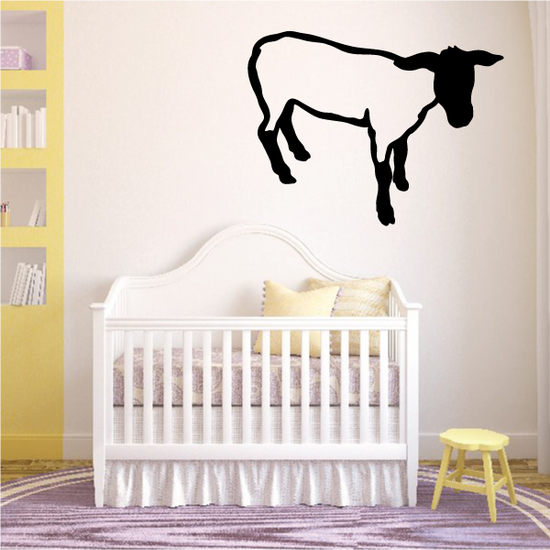 Hampshire Sheep Standing Decal