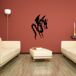 Tribal Winged Snake Dragon Decal