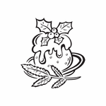 Christmas Decorations Dinner Entree Decal