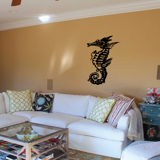 Detailed Sea Horse Decal
