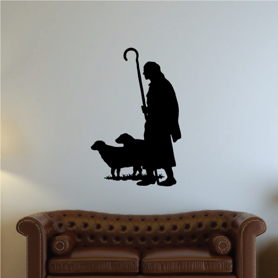 Moses with Sheep Decal