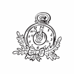 Christmas Decorations Pocket Watch Decal