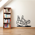 Female Grabbing Ankles Stretching Fitness Wall Decal - Vinyl Decal - Car Decal - MC031