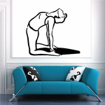 Female Doing Back Stretch Fitness Wall Decal - Vinyl Decal - Car Decal - MC034
