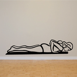 Female Doing Push Ups Fitness Wall Decal - Vinyl Decal - Car Decal - MC036