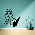 Female Drinking Water Bottle Fitness Wall Decal - Vinyl Decal - Car Decal - MC039