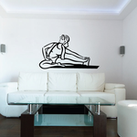 Female Doing Toe Touch Stretch Fitness Wall Decal - Vinyl Decal - Car Decal - MC040