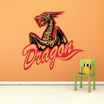 Winged Dragons Decal
