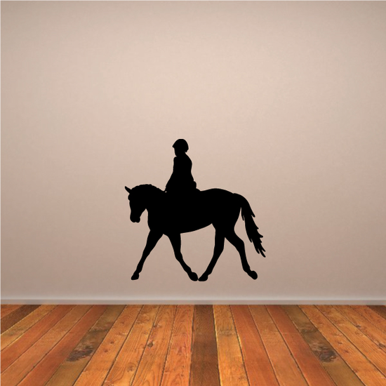 Walking Show Horse with Rider Decal