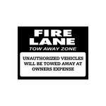 Fire Lanes Sign Signs Home Business Car text Vinyl Decal Sticker Stickers 0002