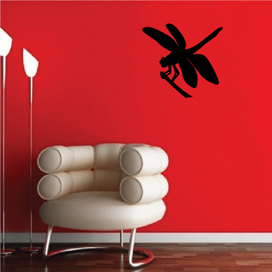 Dragonfly on Stem Decal