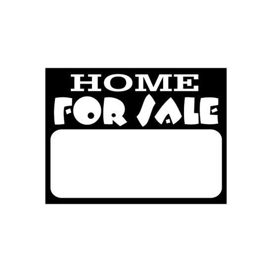 Home For Sale Sign Signs Home Business Car text Vinyl Decal Sticker Stickers 0005